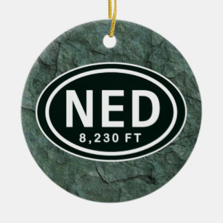 Personalized Nederland CO 8,230 FT NED Ornament