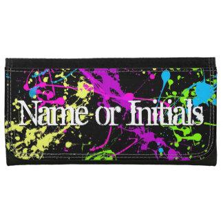 Personalized Neon Paint Splash Wallet