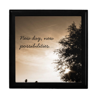 "Personalized ""New day, new possibilities"" Gift Box"