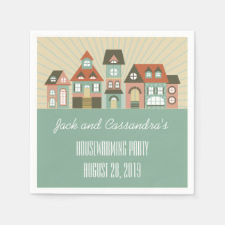 Personalized New Home Housewarming Napkins Paper Napkin