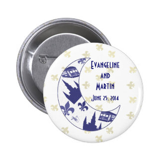 Personalized New Orleans Crescent Moon 6 Cm Round Badge