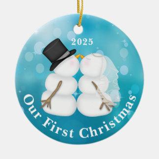 Personalized Newlywed Christmas Ornament
