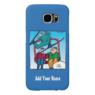 Personalized Nice Jump Skier Cartoon Samsung Galaxy S6 Cases