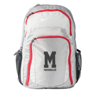 Personalized Nike backpack with name monogram