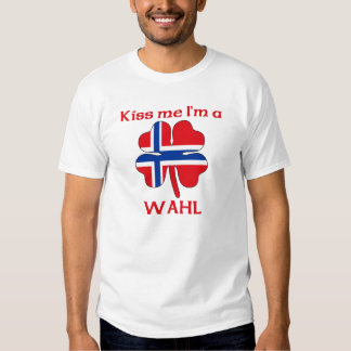 Personalized Norwegian Kiss Me I'm Wahl Tee Shirt