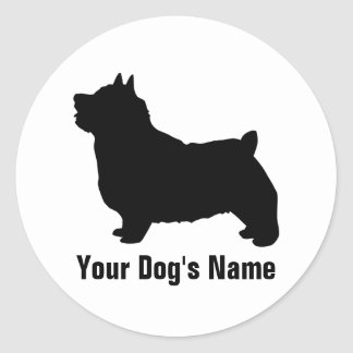 Personalized Norwich Terrier ノーリッチ・テリア Classic Round Sticker