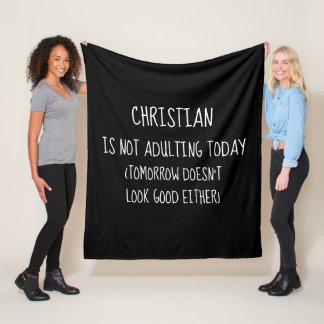 Personalized Not Adulting Today Fleece Blanket