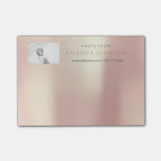 Personalized Note Corporate Glam Pearly Pink