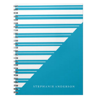 Personalized Notebook with Stripes