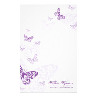 PERSONALIZED NOTEPAPER :: butterflies 3P Stationery