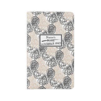 Personalized Notes/Scribble Pad (Tan/Charcoal) Large Moleskine Notebook