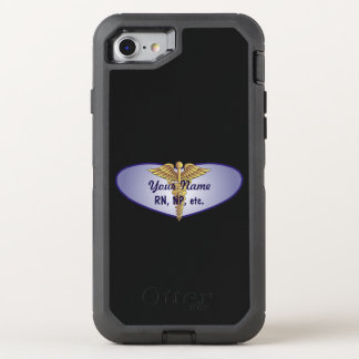 Personalized Nurse Heart Caduceus OtterBox Defender iPhone 8/7 Case