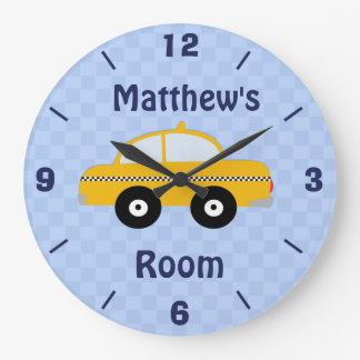 Personalized Nursery Taxi Wall Clock