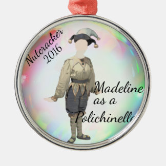 Personalized Nutcracker Ornament- Polichinelle Metal Ornament