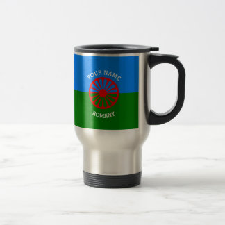 Personalized Official Romany gypsy travellers flag Travel Mug