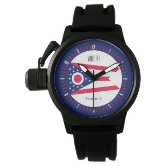 Personalized Ohio State Flag Watch Design