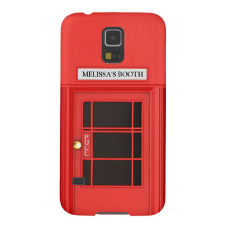 Personalized Oldschool British Telephone Booth Galaxy S5 Cover