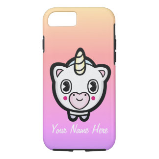 Personalized Ombre Unicorn Emoji iPhone Case