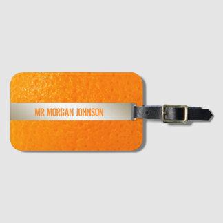 Personalized Orange Fruit Name Travel Luggage Luggage Tag