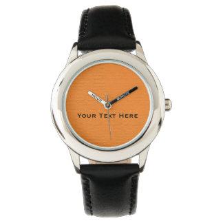 Personalized Orange on Black Strap Kids Watch