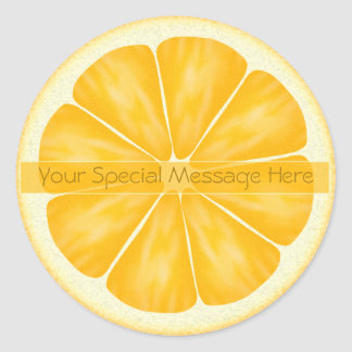 Personalized Orange Slice Stickers