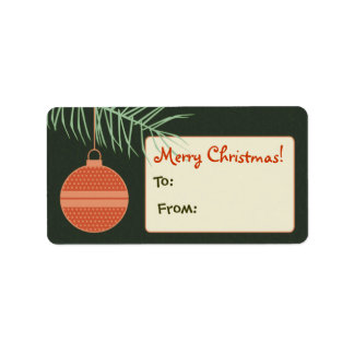 Personalized Ornament Gift Tag / Label Address Label