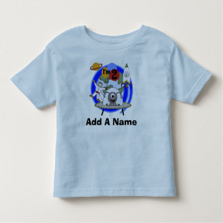 Personalized Outer Space 2nd Birthday T-shirt