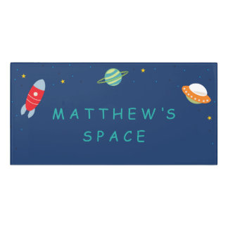 Personalized Outer Space Room Sign