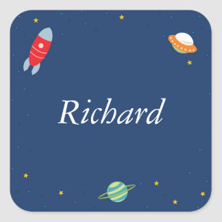 Personalized Outer Space Stickers