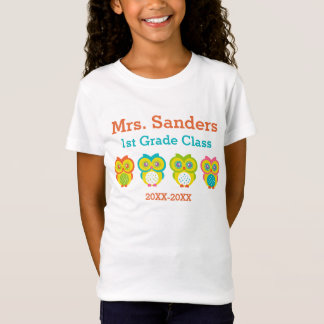 Personalized Owl Classroom T-Shirt