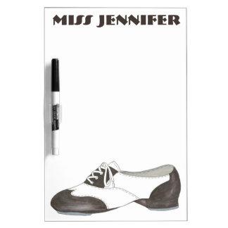 Personalized Oxford Tap Shoe Dance Teacher Gift Dry Erase White Board