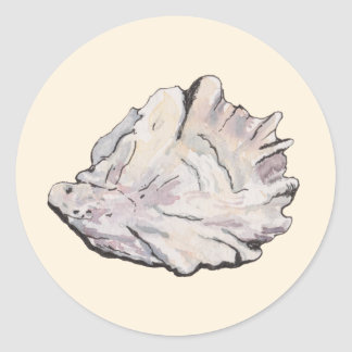 Personalized Oyster Watercolor Classic Round Sticker