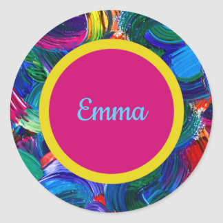 Personalized Painted Stickers with Double Dot