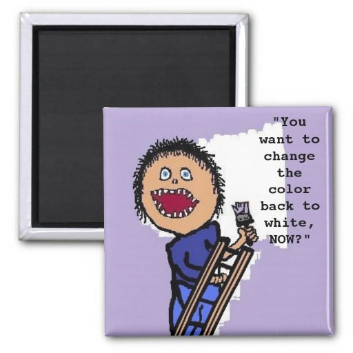 Personalized Painter Refrigerator Magnet