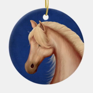 Personalized Palomino Red White and Blue Ornament