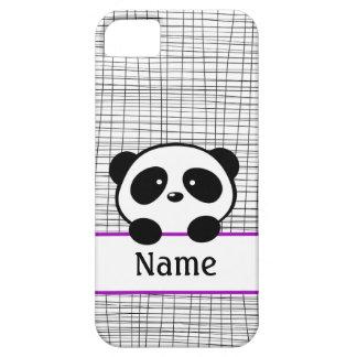 Personalized Panda Bear Purple iPhone 5 Case