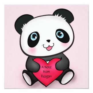 Personalized Panda Invite Card 4 Cute Panda Lovers