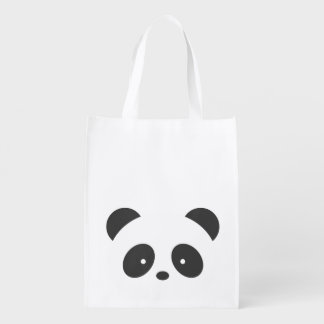 Personalized panda reusable bag
