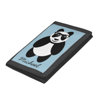 Personalized Panda Trifold Wallet