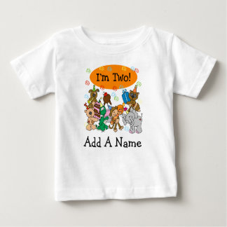 Personalized Party Animals 2nd Birthday Tshirt