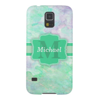 Personalized Pastel Watercolors Name and Monogram Galaxy S5 Cover