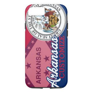 Personalized Patriotic Arkansas Flag Seal iPhone 7 Case