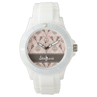 Personalized Peace Lacrosse Watch