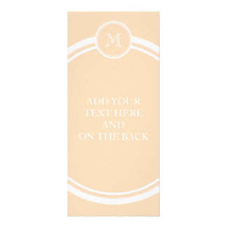 Personalized Peach Puff High End Colored Personalised Rack Card