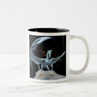 Personalized Pegasus and Planets Coffee Mug