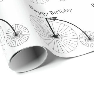 Personalized Penny Farthing Bicycle Design Wrapping Paper