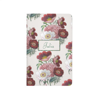 Personalized Peonies Journal