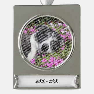 Personalized Pet Loss Photo Gift Template Silver Plated Banner Ornament