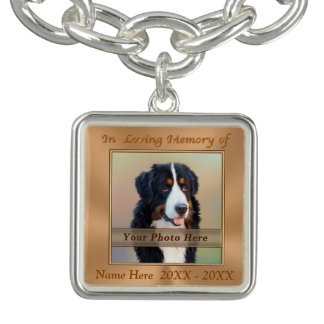Personalized Pet Memorial Bracelet PHOTO and NAME