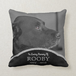 Personalized Pet Memorial Photo | Dog Condolence Cushion